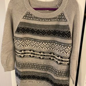 Gray printed Old navy sweater